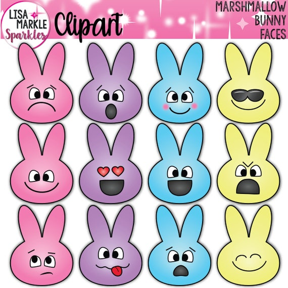 Easter Clipart Bunny Clipart Peeps Clipart Spring Clipart Etsy
