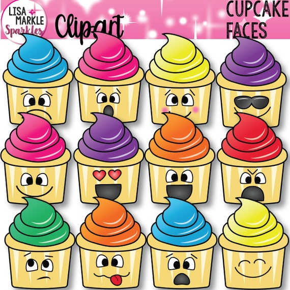 Emoji Clipart Emotions Cupcake Sweet Treats