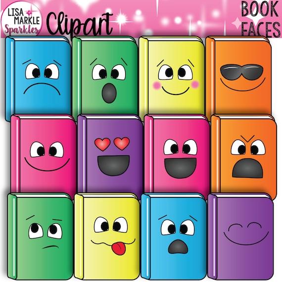 Livre Clipart Clipart Livres Avec Des Visages Emoji Clipart Clipart Ecole