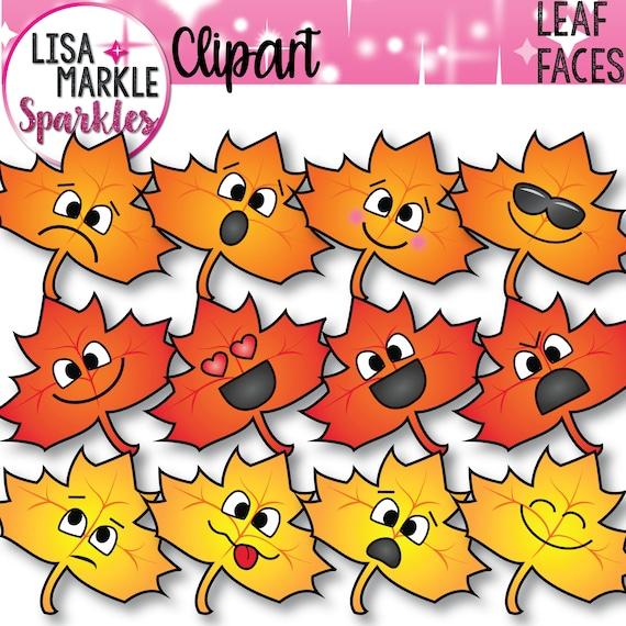 Emoji Clipart Emotions Clipart Leaf Clipart Fall Clipart ...