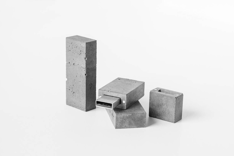 a10bd7a43aa Concrete USB flash drive 16gb. Gift for men. Brutal gift.