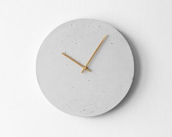 Wall clock made of concrete. Concrete clock. Minimalist clock for the office. Designer clock made of real concrete. Personalization