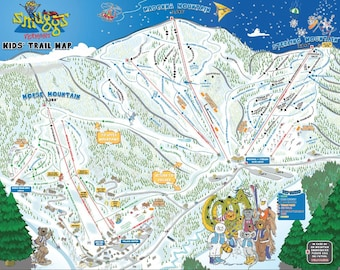 Smugglers notch map   Etsy on three notch trail map, vermont ski resorts map, smuggs mountain map, smugglers notch state park map, smugglers' notch ski trail map, smugglers notch vt lodging, smugglers' notch resort trail map, smuggs trail map, long trail vermont map,