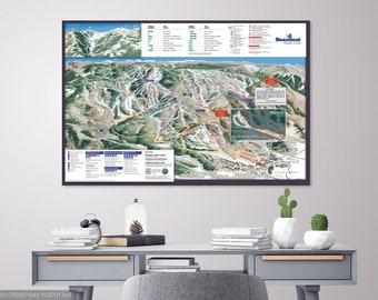 Steamboat trail map | Etsy
