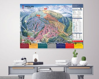 Colorado Ski Map Etsy