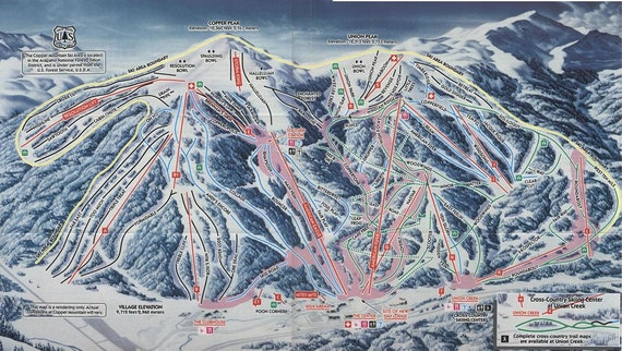 1990 COPPER MOUNTAIN Ski Map