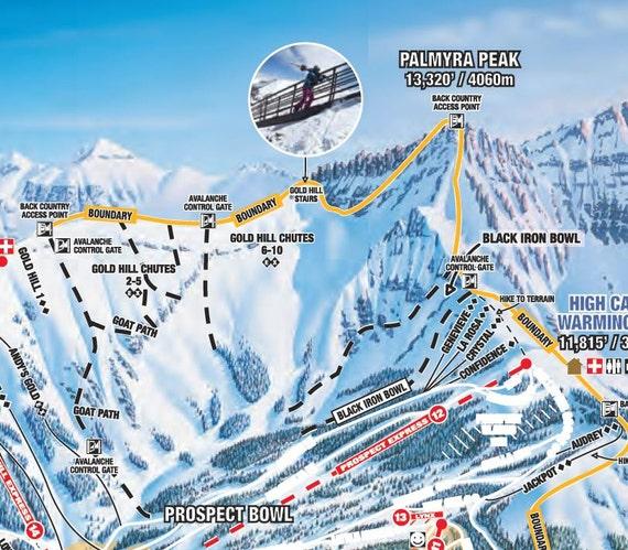 2010 TELLURIDE - Ski Trail Map