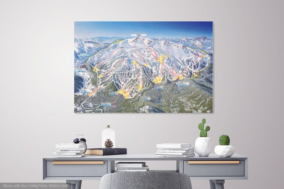 2017 MAMMOTH MOUNTAIN Ski Trail Map on mammoth sites in north america maps, mammoth california airport map, mammoth resort map, june mountain trail map,