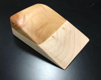 Alder & Maple Solid Wood Doorstop