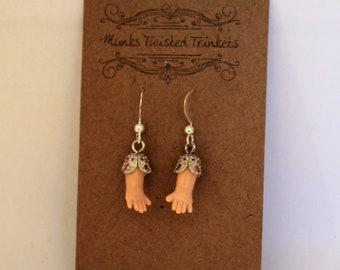 Tiny Hand Earrings