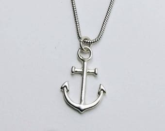 Anchor necklace Dainty anchor necklace Anchor pendant Anchor charm Dainty necklace