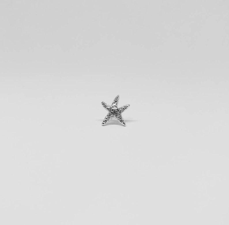 sea jewelry silver jewelry sea stud starfish jewelry silver starfish earring stud earring medium starfish stud