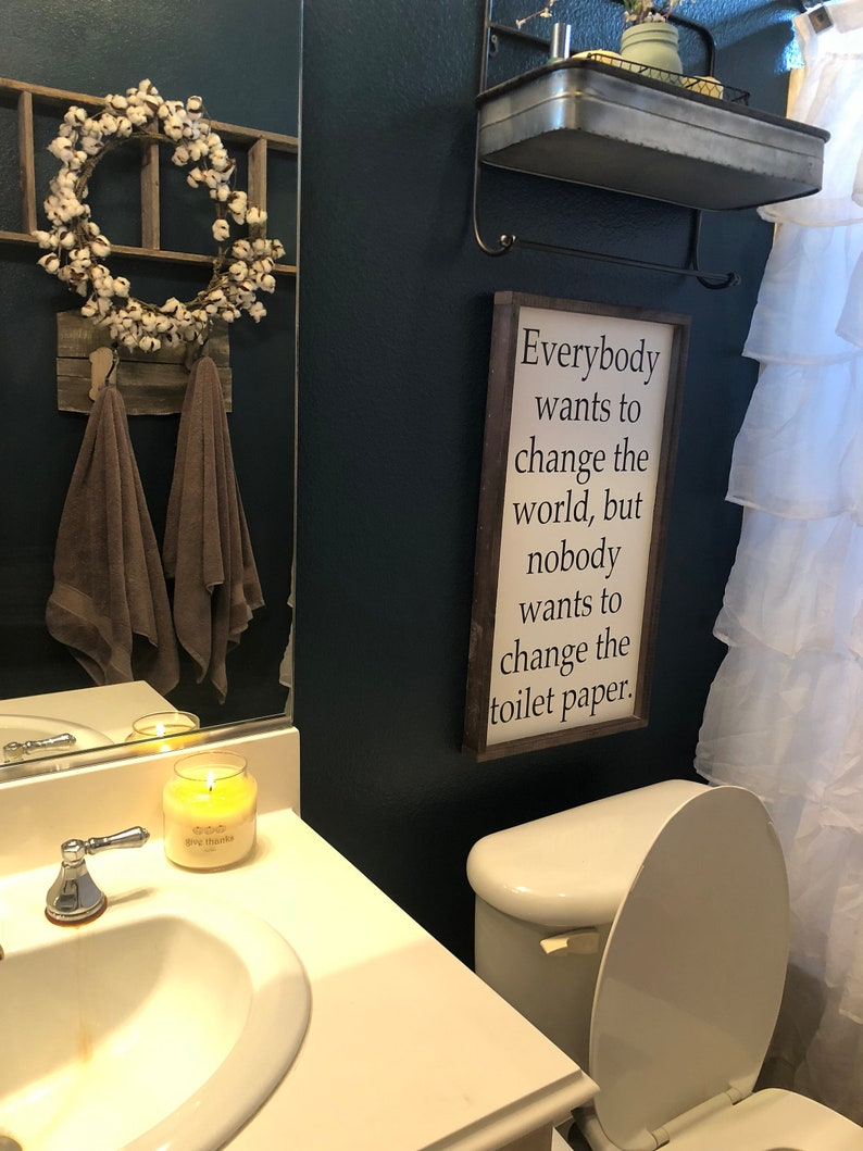 Customized Colors Changing Toilet Paper Power Room Sign Wood Sign Funny Bathroom Decor Bathroom Sign Funny Sign Sayings