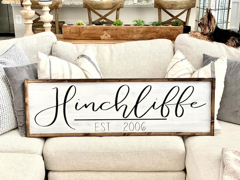 Name Sign Date Wedding Date Sign Customized Est Pick Your Colors Last Name Sign Framed Sign Wedding Gift Established Sign