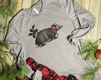 Christmas Shirt for Matching Family Christmas Pajamas. Christmas Possum T-shirt Cute Couples Holiday Shirt Gifts Under 50