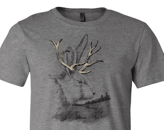 d1544c57 Father's Day Gift for Dad Jackalope Shirt Gift for Men Mythical Creature  Cryptid Shirt Gift for Father's Day