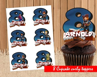 Digital Roblox personal cupcake toppers| Roblox birthday party | printable Roblox toppers|  Roblox decoration| Roblox children party