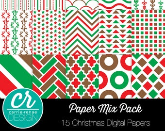 Digital Paper - Christmas Mix Pack