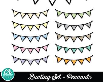 Clipart - Buntings - Pennants