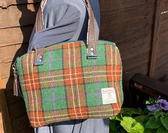 Harris tweed tote gift for her ready to ship wool anniversary Gift birthday present Harris tweed bag,Medium tote
