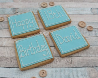Birthday Gift Cookies Male 18th Treat Biscuits For Him Brother Best Friend Nephew Dad Uncle