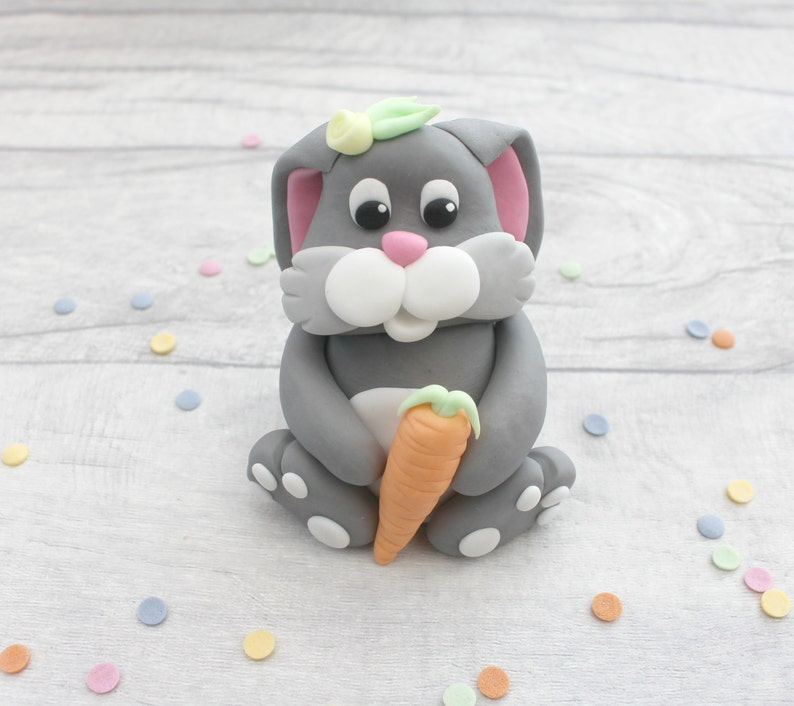 Bunny cake topper edible rabbit cake decoration image 0
