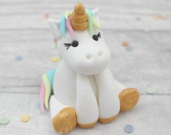 unicorn cake topper, birthday edible unicorn model,