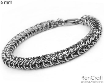 Sterling Silver Box Chainmaille Bracelet