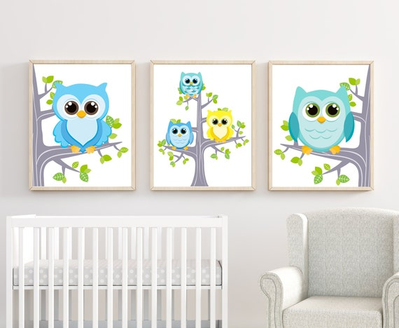 Baby Bedroom Art Owl Decor Owl Wall Prints Bedroom Decor Owl Nursery Art Owl Wall Prints Bedroom Wall Art Owl Bedroom Decor