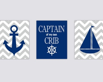 Nautical Nursery Captain of my own Crib