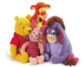4 Crochet Toys Pattern, Disney Pattern, vintage, instant download, amigurumi pattern, Winnie The Pooh Crochet Pattern