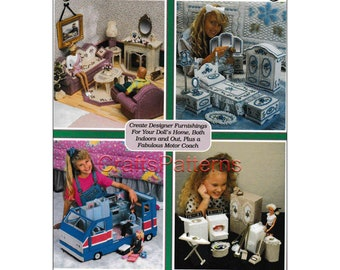 Mega Book Plastic Canvas for Barbie doll, Pattern Book 160 Pages, vintage, PDF - Instant download