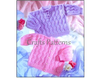 Knitting baby sweater pattern, knitting baby cardigan pattern, instant download