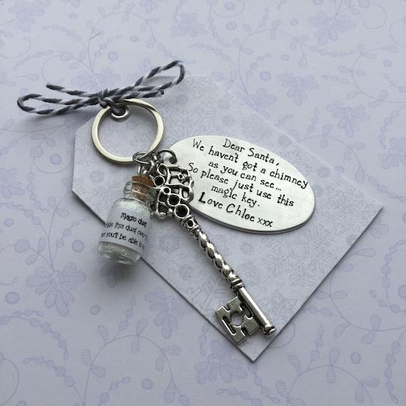 santa/'s magic key Christmas key magic key personalised key Santa key believe keychain santa claus father Christmas key key for santa
