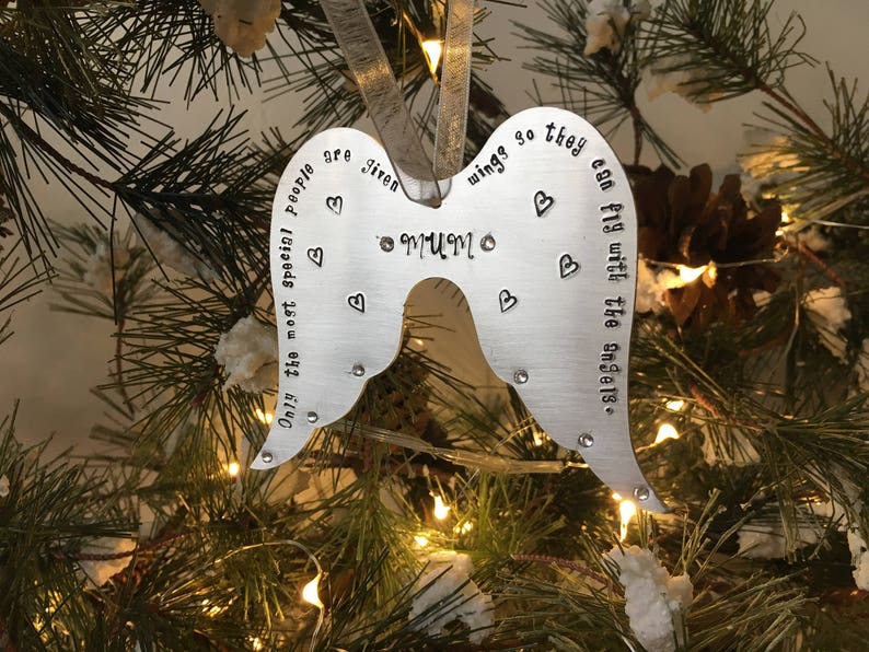 Angel Wing Christmas Decoration Personalised Christmas Etsy