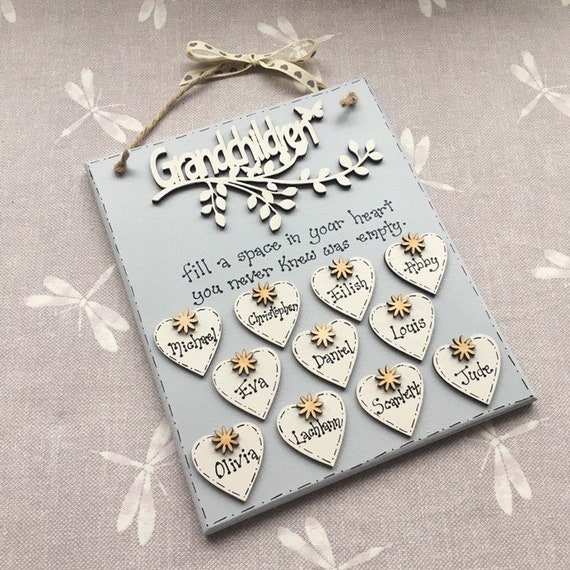 Grandchildren Personalised Gift Plaque You Choose The Words