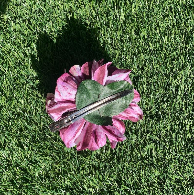 Rose Hair ClipCorsage whitegreen handmade in silk ! Large David Austin Rose