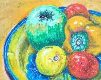 Still life - apple, pepper, lemon, satsumas