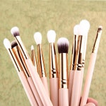 Details about  12x Pro Makeup Brushes Set Foundation Powder Eyeshadow Eyeliner Lip Brush Tool