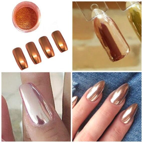 Nail Glitter Mirror Powder Chrome Dust Nail Art Pigment   Etsy