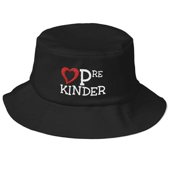 b304770589c57 LOVE Pre-Kindergarten Old School Bucket Hat Teacher Gift