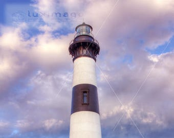 Bodie Island Lighthouse, Outer Banks OBX, North Carolina Print Photograph, Wall Decor