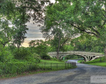 Gothic Bridge, Central Park, New York, Print Photograph, Wall Decor