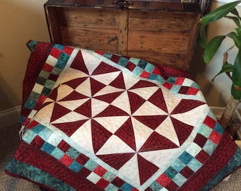 Quilt, Handmade, Pinwheels and Blocks