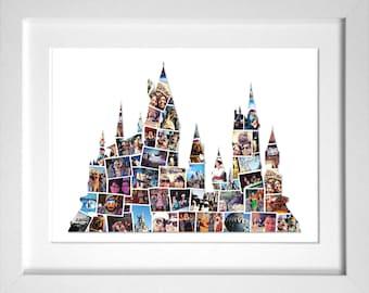 Enchanted Castle Photo CollageChristmas GiftideasDisney WorldCollageDisney CastleDisney Memory MakerScrapbookingBirthday Giftxmas