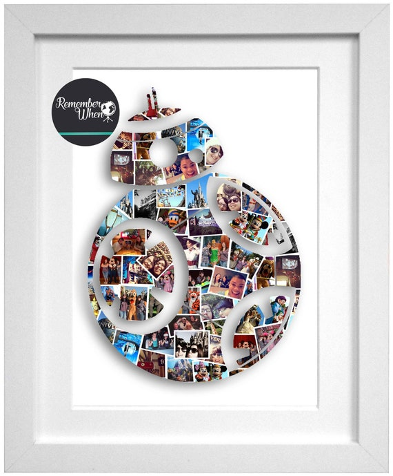 6c42e1dd01e BB-8 Photo Collage Star Wars Collage Christmas Gift