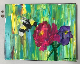 Abstract Bee Paintings