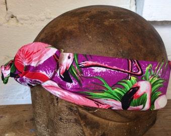 1950's pink flamingo Vintage Style Wire Headband Handmade Gift Idea