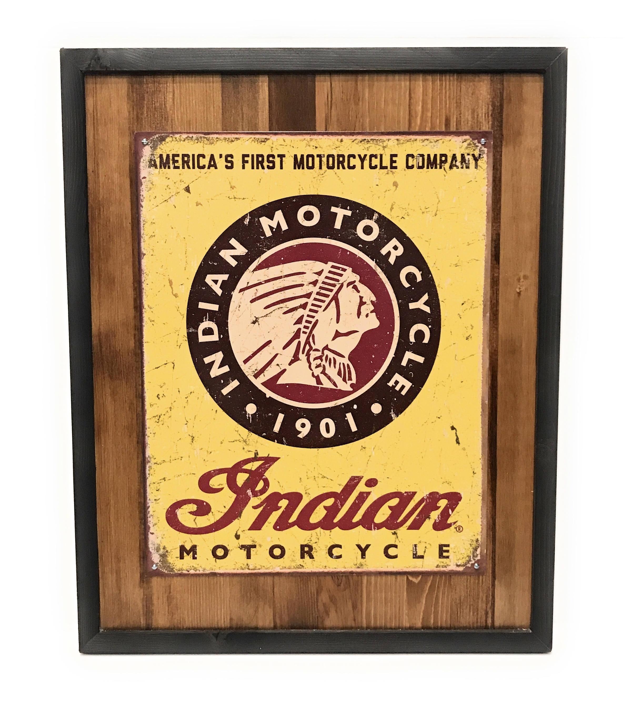 Vintage Indian Motorcycle Company Wall Art Wall Decor | Etsy