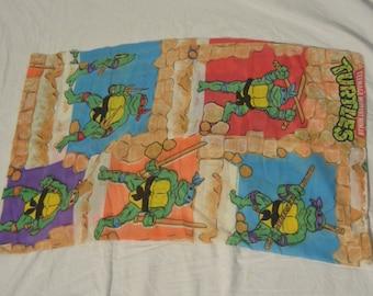 Vintage Teenage Mutant Ninja Turtles Tmnt Twin Equipee Drap De Etsy